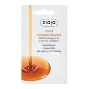 Ziaja Miód Mniszek Lekarski, łagodząca maseczka do twarzy, 7 ml (saszetka)