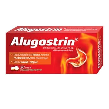 Alugastrin, 340 mg, tabletki do rozgryzania, żucia, 20 szt.