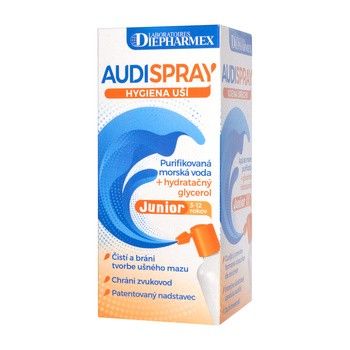 Audispray Junior, hipertoniczny roztwór wody morskiej do higieny uszu, 25 ml
