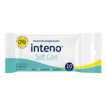 INTENO Soft Care, chusteczki pielęgnacyjne, 10 szt.