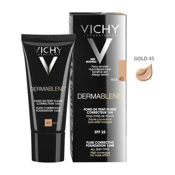 Vichy Dermablend, fluid korygujacy 16 h trwałość SPF 35, 45 Gold, 30 ml