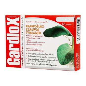 Gardlox, pastylki ziołowe do ssania z witaminą C, 16 szt.