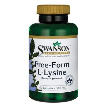 Swanson L-Lizyna, 500 mg, kapsułki, 100 szt.