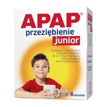 Apap Przeziębienie Junior, proszek do sporządzania roztworu doustnego, saszetki, 6 szt.