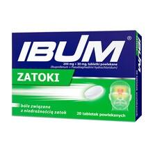 Ibum Zatoki, 200 mg + 30 mg, tabletki powlekane, 20 szt.