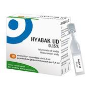 Hyabak UD, 0,15%, krople do oczu, 30 pojemników jednodawkowych x 0,4 ml