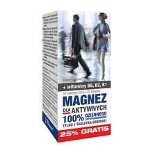 Magnez dla aktywnych, tabletki, 35 szt (28 szt+ 7 szt)