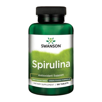Spirulina, 500 mg, tabletki, 180 szt.