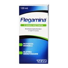 Flegamina, 4 mg/5 ml, syrop o smaku miętowym, 120 ml