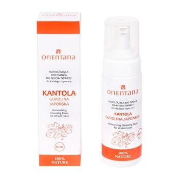 Orientana, nawilżająca Bio pianka do mycia twarzy, kantola, 150 ml