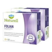 Zestaw 2x Naturell Folian, 400 µg kwasu foliowego, tabletki, 60 szt.