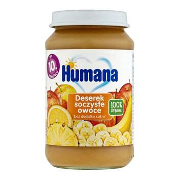 Humana 100% Organic Deserek soczyste owoce, 10m+, 190 g