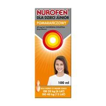 Nurofen Junior, 40 mg/ml, zawiesina doustna o smaku pomarańczowym, 100 ml
