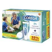 Zestaw Promocyjny Corega - 24 tabletki do czyszczenia protez i krem do mocowania protez