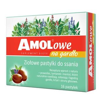 AMOLowe na gardło, ziołowe pastylki do ssania, 16 szt.