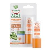 Equilibra Aloe, aloesowy sztyft przeciwsłoneczny SPF 50+, 10 ml