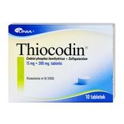 Thiocodin, 15 mg + 300 mg, tabletki, 10 szt.