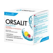 Orsalit dla dorosłych, smak cytrynowo-malinowy, proszek, saszetki, 10 szt.
