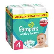 Pampers Active Baby 4 (9−14 kg), pieluszki jednorazowe, 180 szt.