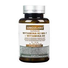 Singularis Witamina K2 MK-7 + D3, kapsułki miękkie, 60 szt.