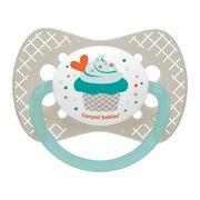 Canpol Babies, smoczek silikonowy, symetryczny, Cupcake, 18m+, 1szt.