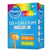 Plusssz Junior D3 + Calcium Complex, tabletki do ssania, 30 szt.