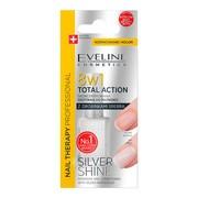 Eveline Total Action 8 w 1 Silver Shine, odżywka do paznokci, 12 ml