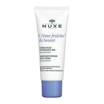 Nuxe Creme Fraiche de Beaute, krem nawilżający 48h, bogata konsystencja, 30 ml