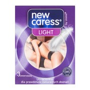 New Caress Light, ultracienkie prezerwatywy, 3 szt.
