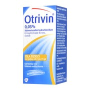 Otrivin 0,05%, 0,5 mg / ml, krople do nosa, 10 ml