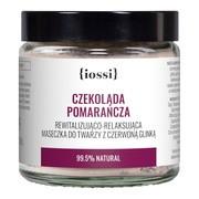 Iossi Czekolada, Pomarańcza, rewitalizująco-relaksująca maseczka do twarzy z czerwoną glinką, 120 ml