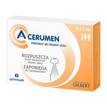 A-Cerumen, preparat do oczyszczania i higieny uszu, 2 ml, 5 ampułek