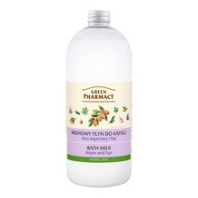 Green Pharmacy, płyn do kąpieli, olej arganowy i figi, 1000 ml