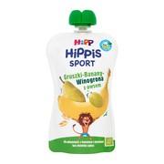HiPP HiPPiS BIO Sport, mus gruszka, banany, winogrona z owsem, po 1. roku życia, 120 g