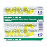 Witamina C  100 mg, tabletki, do połykania, ssania, smak cytrynowy, 30 szt.