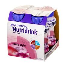Nutridrink Juice style, preparat odżywczy o smaku truskawkowym, 4 x 200 ml