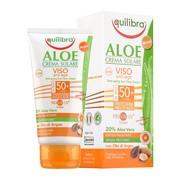 Equilibra Aloe, aloesowy przeciwzmarszczkowy krem przeciwsłoneczny SPF 50+, 75 ml