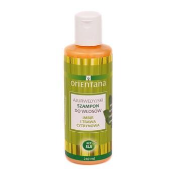 Orientana, ajurwedyjski szampon do włosów, imbir i trawa cytrynowa, 210 ml