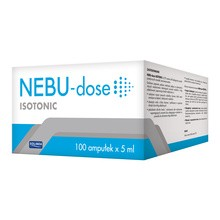 Nebu-Dose Isotonic, roztwór soli fizjologicznej, 100 ampułek po 5 ml