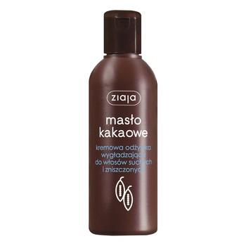 Ziaja Masło Kakaowe, kremowa odżywka wygładzająca do włosów suchych i zniszczonych, 200 ml