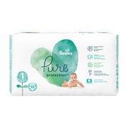 Pampers Pure Protection 1 (2−5 kg), pieluszki jednorazowe, 35 szt.