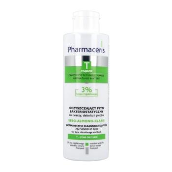 Pharmaceris T Sebo-Almond-Claris, oczyszczający płyn bakteriostatyczny, 3% kwasu migdałowego, 190 ml