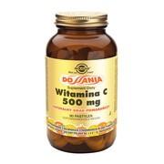 Solgar Witamina C, 500 mg, pastylki do ssania o naturalnym smaku pomarańczy, 90 szt.
