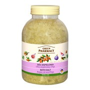 Green Pharmacy, sól do kąpieli, olej arganowy, figi, 1300 g