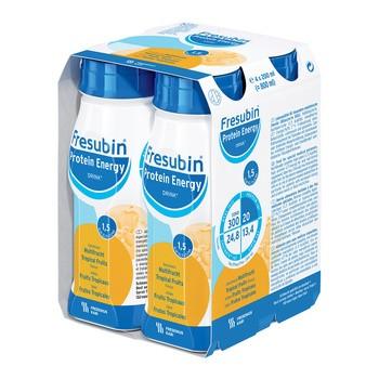 Fresubin Protein Energy Drink, płyn o smaku owoców tropikalnych, 4 x 200 ml