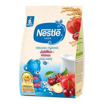Nestle, kaszka mleczno-ryżowa, jabłko-wiśnia, 230 g