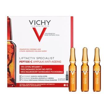 Vichy Liftactiv Specialist Peptide-C, skoncentrowana kuracja przeciwzmarszczkowa z witaminą C, 30 ampułek x 1,8 ml