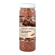 Fresh Juice, sól do kąpieli, Chocolate&Cinnamon, 700 g