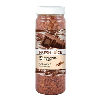 Fresh Juice, sól do kąpieli, Chocolate&Cinnamon, 700 g