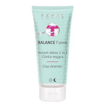 FlosLek Laboratorium, Balance T-zone, Instant detox 2w1, glinka myjąca, 125ml